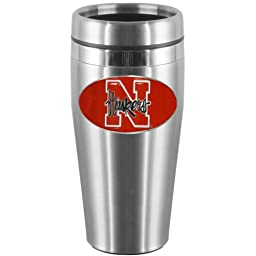 NCAA Nebraska Cornhuskers Steel Travel Mug