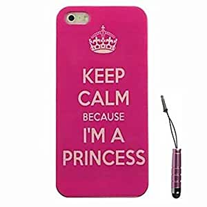 Zaki- Crown Proverb Pattern Hard Case & Touch Pen for iPhone 4/4S