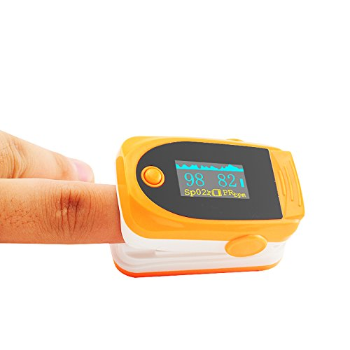 Vinmax Fingertip Pulse Oximeter Oximetry Blood Oxygen Saturation Monitor with Audio Alarm & Pulse Sound | Spo2 Monitor Finger Puls Oximeter,Orange