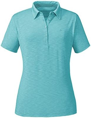 Sch/öffel Damen Polo Shirt Capri1 bequemes und tailliertes Poloshirt f/ür Frauen atmungsaktives Funktionsshirt mit Moisture Transport System