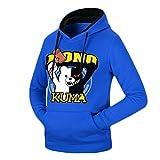 Rain's Pan Anime Danganronpa Monokuma Cosplay Costume Fleece Pullover Hoodies Sweatshirt (US M=Asia XL, blue)