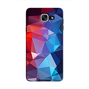 Cover It Up - Blue and Red Pixel Triangles Samsung Galaxy J7 Max Hard Case