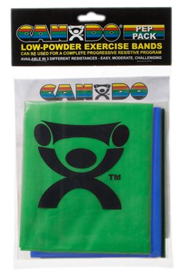 (Cando 10-5282 3 Piece Low Powder Moderate Exercise Band PEP Pack)