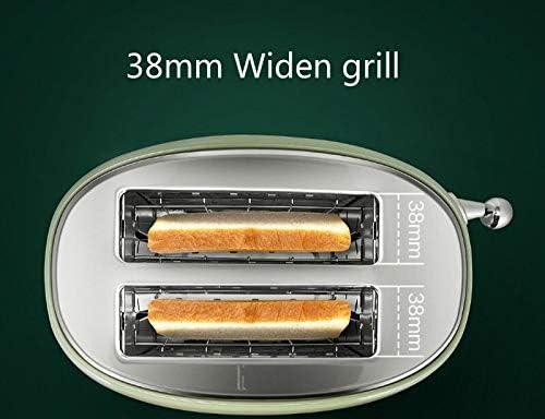 JYDQB 800w Automatique Retro Grille-Pain Machine à Pain Multifonctions Petit déjeuner 38mm Grill Sandwich réglage Clip 2 tranches