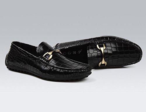 Herren Lederschuhe Herren Lederschuhe britischen Stil Freizeitschuhe Mode Herrenschuhe ( Farbe : Schwarz , größe : EU44/UK8.5 ) Schwarz