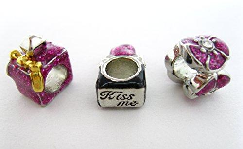 Mary Kay Pink Lipstick Perfume Roses Charm Bead European