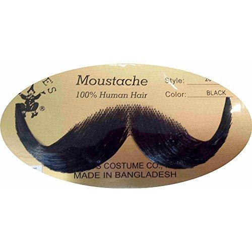 Handlebar Human Hair Moustache