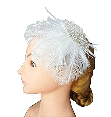 Blank K Wedding Bridal Bandeau Hair Dress,Flapper 1920's Bridal Hair Clip,Derby Mini Hats