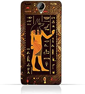 HTC One E9plus TPU Silicone Case with Egyptian Hieroglyphs Pattern