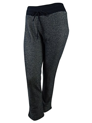 Jones New York Women's Plus-Size Rib Waist Easy Pant, Navy, 0X (New Jones Striped York Suit)