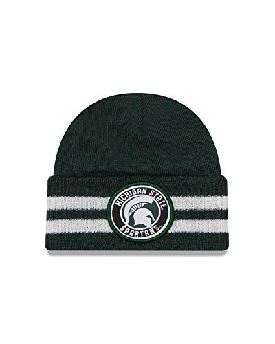 Free NCAA Michigan State Spartans 2 Striped Remix Cuff Knit Beanie, Green, One Size