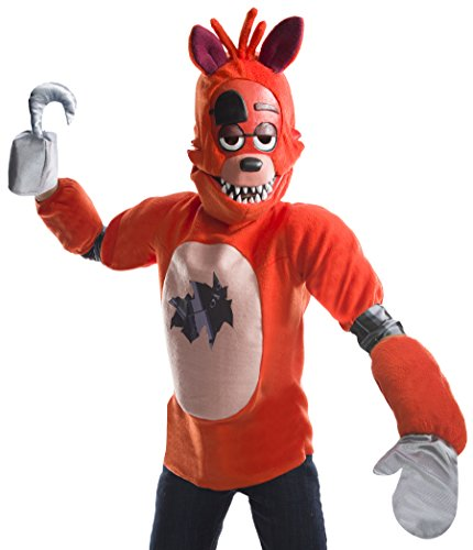 Foxy The Pirate Fox Costume For Kids (Rubie's Costume Boys Five Nights At Freddy's Foxy The Pirate Costume, Large, Multicolor)