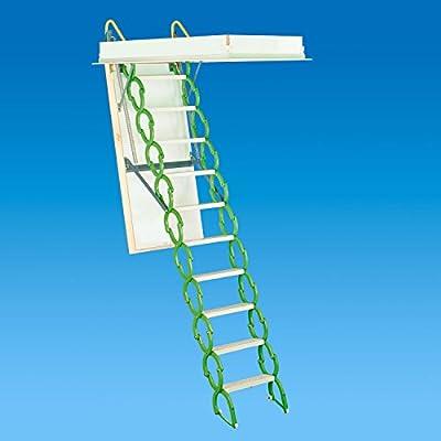 "Rainbow M3060S 30""W x 60""L Prestige Telescoping Attic Ladder / Stair: 7'4""H - 9'10""H - GREEN"