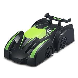 SZJJX RC Car Climbing Mini Spiderman 2.4 Ghz Radio Remote Control Sport Racing Vehicle Mini Zero Gravity Stunt Car Kids Electric Toy-Green