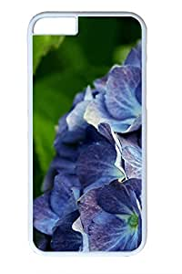 iPhone 6 Case - Purple Flowers Illustrators Series Protective Hard White Case Cover Skin For iPhone 6 (4.7 inch)