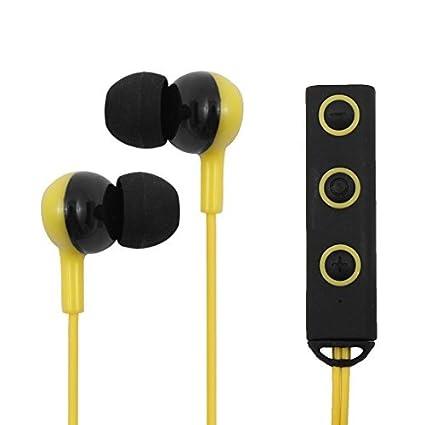 eDealMax Deportes Wireless V4.1 Auriculares magnético estéreo MP3 Auricular Bluetooth Auriculares Amarillo