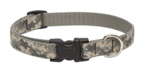 LupinePet 3/4-Inch ACU 13-22-Inch Adjustable Collar for Medium to Large Dogs