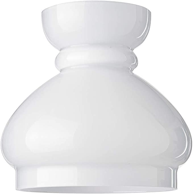 Lumis Glass Oil Lamp Cowl Lampshade Cover Medium Width At Base 14 5cm Dia 5 White Amazon Co Uk Lighting