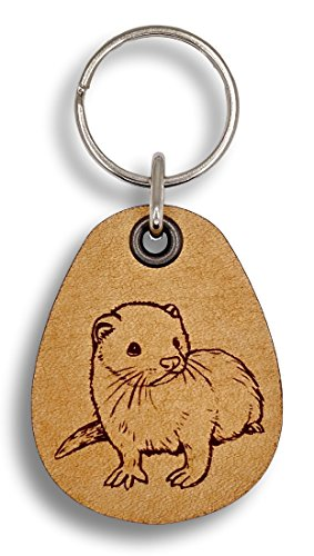 ForLeatherMore - Ferret - Genuine Leather Keychain - Pet Key Fob
