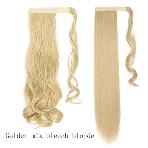 17''23'' Long Wavy Clip In Hair Tail False Hair Ponytail Hairpiece With Hairpins Synthetic Hair Ponytail Hair 86-613 Wavy-17inch