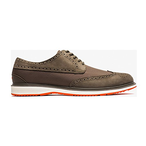 New Swims Barry Brogue Low Taupe/Orange 12 Mens Boots by SWIMS