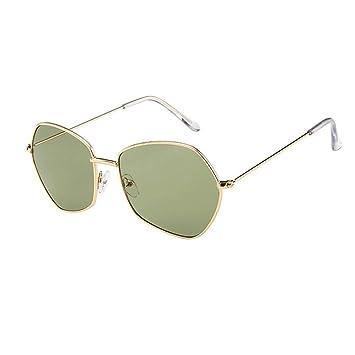 Qiusa Gafas polarizadas Gafas de Sol para Hombres Mujeres Gafas de Seguridad Protección UV Gafas Retro Niño pequeño Niños Chicas Señoras Oval con Espejo ...