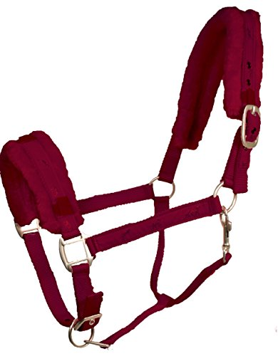 - Derby Originals Padded Comfort Nylon Fleece Pony Horse Halter, Burgundy