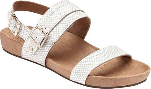 Leather Samar Sandals Womens Vionic 342 White Snake nWfgA7