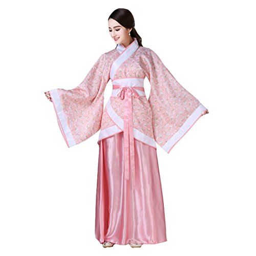 Chinese Traditional Costume For Girls (Ez-sofei Women's/Girls Ancient Chinese Traditional Costumes Hanfu (M, E-Pink))