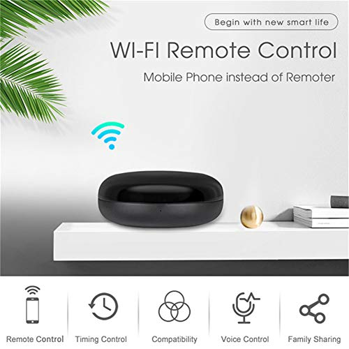 MOES WiFi Smart IR Remote Controller Smart Home Infrared Universal Remote  Blaster,One for All Control AC TV DVD CD AUD SAT etc,Compatible with Alexa
