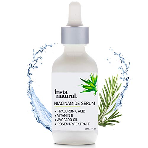 (InstaNatural Niacinamide 5% Face Serum - Vitamin B3 Anti Aging Skin Moisturizer - Diminishes Acne, Breakouts, Wrinkles, Lines, Age Spots, Hyperpigmentation, Dark Spot Remover for Face - 2 oz)