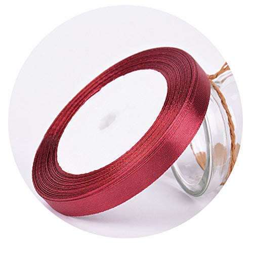 25Yards/Roll Grosgrain Satin Ribbons for Wedding Christmas Party