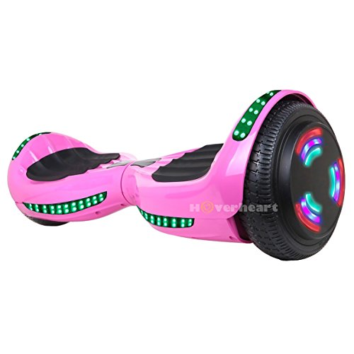 Hoverboard UL 2272 Certified Flash Wheel 6.5'' Bluetooth Speaker with LED Light Self Balancing Wheel Electric Scooter (Pink) by Hoverheart