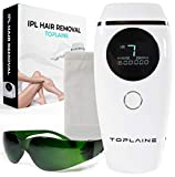 Toplaine Laser Hair Removal Device - Potent 600.000 IPL Permanent Hair Remover for Women - Easy to Use Home Face & Body Hair Removal Kit – Pain-Free and Most Convenient Hair Removal Epilator