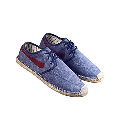 Haodasi Fashion Unisex Atmungsaktiv Leinen Segeltuchschuhe Slip-on Schuhe Flache Sandalen Turnschuhe uvDKM5iP