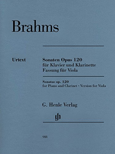 Sonatas For Viola & Piano (From Clarinet Sonatas) Op. 120 No 1 & 2 Revised Ed