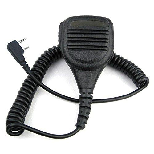 (Semoic Heavy Duty Speaker Microphone Mic PTT IP54 Waterproof for Kenwood Baofeng HYT Hytera Two Way Radio UV-5R TK-3302 GT-3)