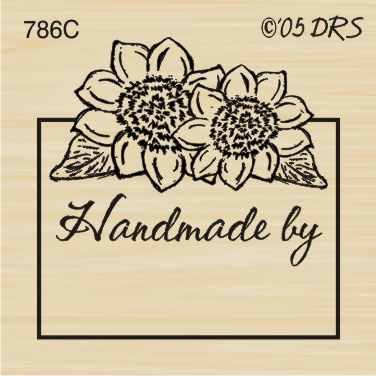 Sunflower Handmade By Rubber Stamp By DRS Designs