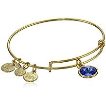 "Alex and Ani ""Bangle Bar"" September Birthstone Yellow-Gold Expandable Bracelet"