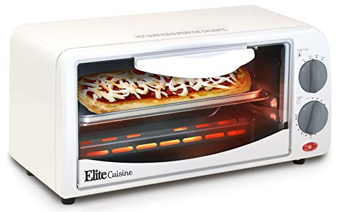 (Maxi-Matic by ETO-224 Personal 2 Slice Countertop Toaster Oven with 15 Minute Timer Includes Pan and Wire Rack, Bake, Broil, Toast,)