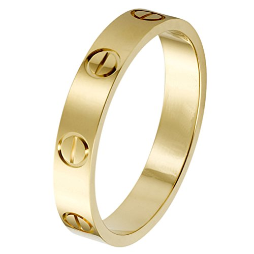 Z.RACLE 4mm Love Rings for Women with Screw Design Best Gifts for Love Sliver Z.RACLE