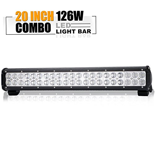 20In Led Light Bar On Reverse Front Rear Bumper Brush Bull Bar Grille Trails For Truck Jeep Ford F150 Polaris Ranger Gmc Tractor 4 Wheeler ATV Boat Golf Cart Mower Honda UTV Toyota Can Am Silverado (Gmc Sierra 2500 Front Door)