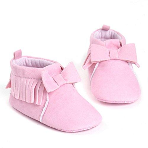 CHENGYANG Baby Mädchen Winter Warm Schnee Stiefel Prewalker Kind-Schuh Rutschfest Lauflernschuhe Pink#31