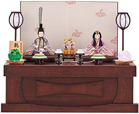 雛人形 一秀 江戸木目込み人形 親王(2人) 収納飾り 入り目 桃山雛 幅50cm (i-27-h32) 京からかみ ひな祭り お雛様