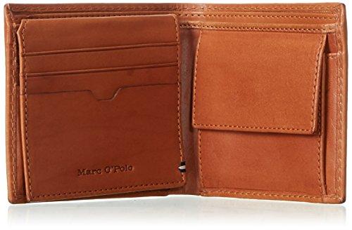 Marc O'Polo Herren Combi Wallet Geldbörsen, Braun (Cognac 720), 11x9x2 cm