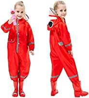 Toddler Rain Suit Baby Rain Suit with Hood Waterproof Coverall One Piece Rain Suit Kids Muddy Buddy(3-10 Years