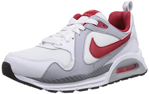 Nike Air Max Trax Jungen Sneakers Weiß (White/Gym Red-Bright Crimson-Wolf Grey)