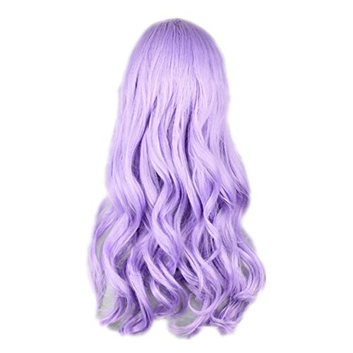 COSPLAZA Cosplay Wig Light Purple Long Wavy Curly Anime Show Party Hair]()
