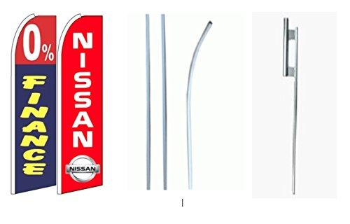 0  Finance Nissan King Swooper Flag W Kit  Pack Of 2