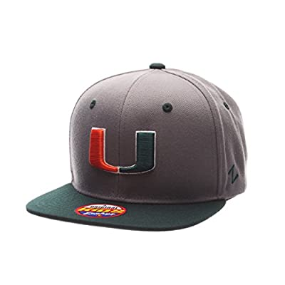 Zephyr ZEPHY YOUTH MIAMI HURRICANES Z11 SLATE ZWOOL ADJUSTABLE HAT GRAY from Zephyr 1048675
